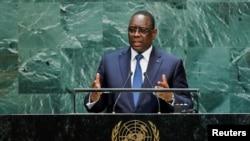 Le président du Sénégal Macky Sall, le 24 septembre 2019.
