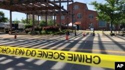 Hiện trường vụ xả súng ở New Jersey hôm 17/6.