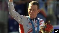2000년 시드니 올림픽에서 동메달을 획득한 랜스 암스트롱.