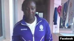 Jeanine Christelle Djomang était la gardienne de but des Femina Stars d'Ebolowa.(DR)