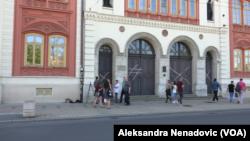Ulaz u zgradu Rektorata Univerziteta u Beogradu, Foto: VOA