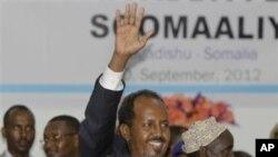 FILE - Somali opposition leader and former president Hassan Sheikh Mohamud.
