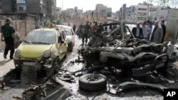 시리아 북부도시 알레포의 한 세차장에서 발생한 차량폭탄 테러