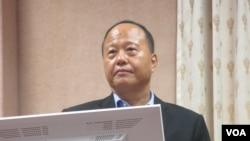 台湾国防部常务次长柏鸿辉中将(美国之音张永泰拍摄)