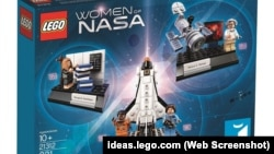 """The """"Women of NASA"""" Lego set features four women who worked on U.S. space exploration."""