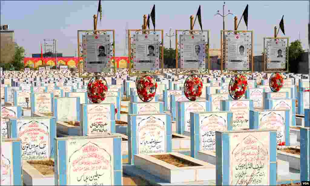بم دھماکوں ، ٹارگٹ کلنگ یا دیگر سانحات کے نتیجے میں انتقال کرجانے والے افراد کی قبریں