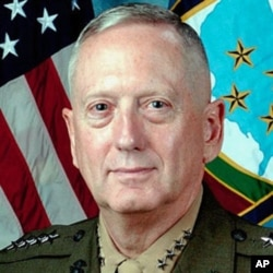 Le général James Mattis, chef du Commandement central américain