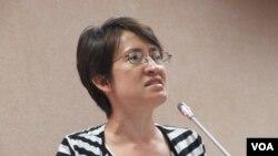 台湾在野党民进党立委萧美琴(美国之音张永泰拍摄)