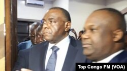 Jean-Pierre Bemba ari kumwe na perezida wa Komisiyo y'amatora ya Kongo Corneille Nangaa.