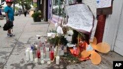 Le site où est décédé Eric Garner en juillet (AP)