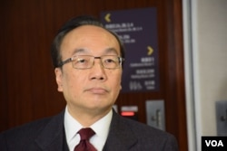 香港公民黨黨魁梁家傑表示,北京沒有給予港人高度自治。(美國之音湯惠芸攝)