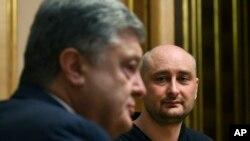 Петро Порошенко и Аркадий Бабченко