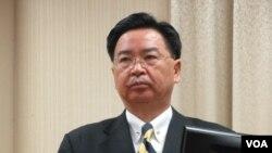 台灣外長吳釗燮3月4號在立法院外交及國防委員會接受質詢(美國之音張永泰攝)