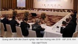 Diễn đàn Doanh nghiệp Việt Nam 2018 diễn ra hôm 4/12 ở Hà Nội