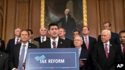 美国众议院议长保罗·瑞安宣布美国共和党提出的税制改革方案