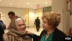 Пережившая депортацию Айше Диттанова с дочерью Зульфирой Асановой