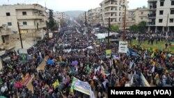 Anti-Turkish protest in Afrin