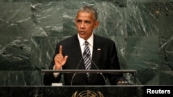 U.S. President Barack Obama addresses the United Nations, September 20, 2016.