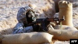 Учения сирийской армии в условиях применения химического оружия