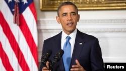 """El presidente de Estados Unidos dijo en televisión nacional que este es un """"primer paso importante"""" hacia un mundo más seguro."""