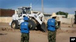 남수단에서 활동 중인 유엔 평화유지군. (자료사진)