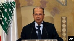 Christian leader Michel Aoun arrives in Egypt for the first time since his inauguration. The newly elected Lebanese President defended the militant group Hezbollah's arms role in a Sunday interview with Egyptian TV network CBC. Aoun's visit is the first for the former army commander to Egypt in 55 years.