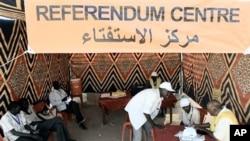 Southern Sudanese sit in a registration center of Al-jref Garb in the capital Khartoum, 25 Nov 2010