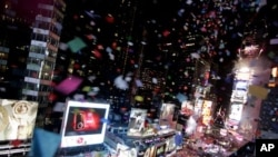 Revelers participate in New Year celebrations in Times Square in New York (file photo)