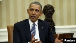 Presiden AS Barack Obama berbicara soal nominasi calon hakim Mahkamah Agung pengganti Scalia, Rabu (24/2).