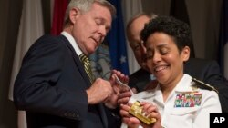 Admiral Michelle Howard is the first four-star Admiral in the U.S. Navy.