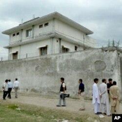 Vista exterior da casa onde andava escondido o líder da al-Qaida durante seis anos