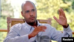 Saif al-Islam, son of Libyan leader Moammar Gadhafi, during an interview with Reuters, July 30, 2007.