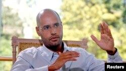 Seif al-Islam, putra mendiang pemimpin Libya leader Moammar Gadhafi, dalam wawancara dengan Reuters, 30 Juli 2007 (foto:dok)
