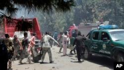 阿富汗南部的赫尔曼德省发生大威力汽车炸弹袭(2017年6月22日)