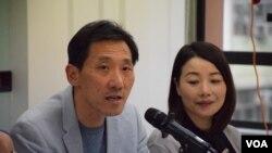 立法會議員姚松炎 (VOA湯惠芸攝)