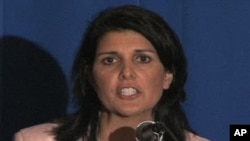 South Carolina Governor-elect Nikki Haley speaks at the Republican Governor's Association meeting.