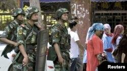 6月29日武警在烏魯木齊市警戒