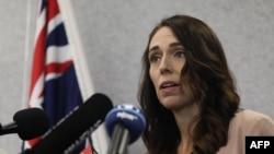 Perdana Menteri Selandia Baru Jacinda Ardern dalam konferensi pers di Christchurch pada 13 Maret 2020. (Foto: AFP/Sanka Vidanagama)