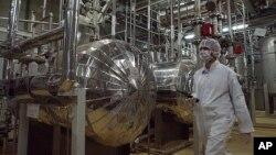 이란 나탄즈의 우라늄 농축시설 내부. (자료사진)