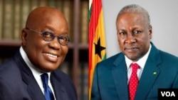 Manyan 'yan takara a Ghana, shugaba Nana Akufo Addo da tsohon shugaba John Mahama
