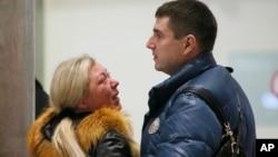 俄羅斯客機西奈墜毀乘客家屬在機場等候消息。
