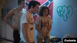 """Escena de la película """"Green Room"""", una de las últimas que filmó Anton Yelchin."""