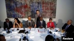 Barack Obama e dissidentes cubanos.