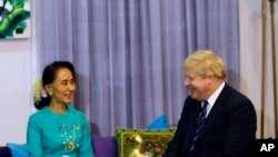 ၀န္ႀကီး Boris Johnson ႐ိုဟင္ဂ်ာအေရး ေဒၚေအာင္ဆန္းစုၾကည္ႏွင့္ ေဆြးေႏြးမည္