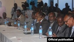 Some of Somalia's New cabinet members. Somalia's new cabinet's selection was agreed to on Nov. 12.