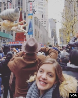 "Credit: Clara Nogueira: ""My first (and only, probably) Macy's Thanksgiving Parade!""🦃🇺🇸💙"""