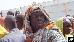 An old woman, who fled her home due to violence from the Islamic extremists group Boko Haram, is seen inside a refugee camp in Minawao, Cameroon, Feb. 25, 2015.