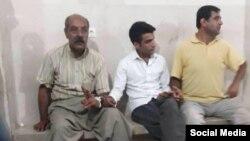 مظفر صالح نیا(راست) و خالد حسینی(چپ) از فعالان بازداشت شده کرد