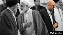 در این عکس، احمد تویسرکانی در کنار سایر مقامات قضایی جمهوری اسلامی دیده میشود
