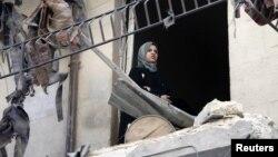 Oštećene zgrade u sirijskom gradu Alepu